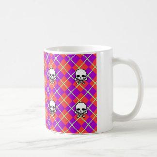 Rauten-Schädel Kaffeetasse