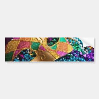 Rautenförmige farbige Maske Autoaufkleber