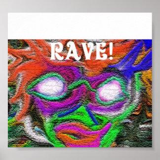 Rave-Flyer Poster