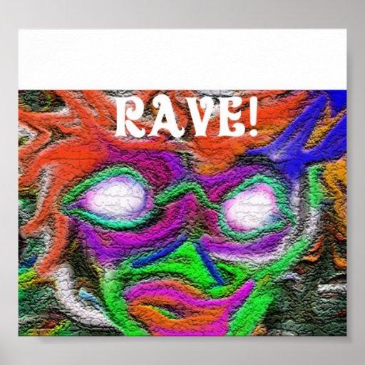 Rave-Flyer Plakate