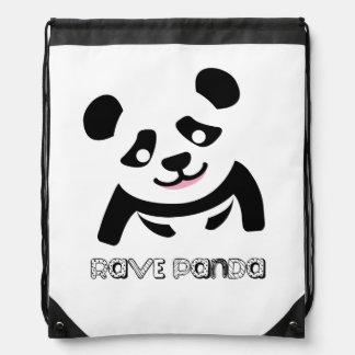 Rave-Panda-Rucksack Turnbeutel