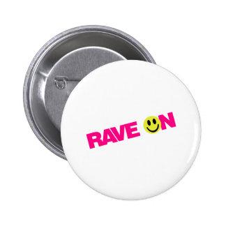 Ravean - Raver-Musik DJ Mit einer Keule schlagen Runder Button 5,1 Cm
