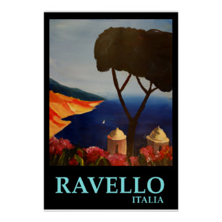 Ravello Italien - Retro Art-Plakat Poster