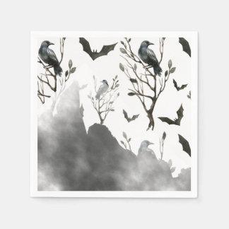 Ravens Wolken des Schwarzen und des Nebels Papierserviette