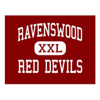 Ravenswood - rote Teufel - hoch - Ravenswood Postkarte