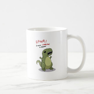 Rawr bedeutet i-Liebe Sie im Dinosaurier Kaffeetasse