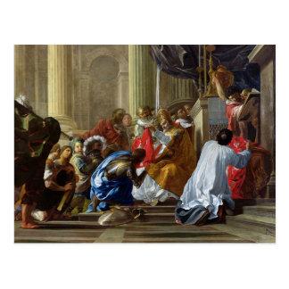 Raymond IV de Heilig-Gilles Taking das Kreuz Postkarte