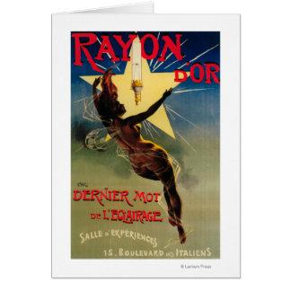 Rayon D'Or Restaurant-förderndes Plakat Grußkarte