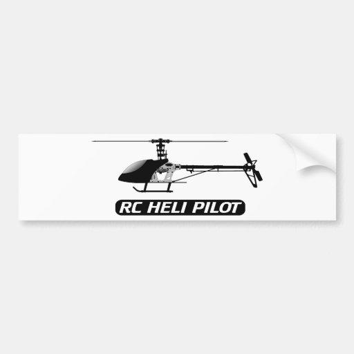 RC Hubschrauber-Pilot Auto Sticker