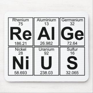 Re--Al-GE-Ni-U-s (wirkliches Genie) - voll Mousepads