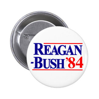 Reagan Bush 84 Runder Button 5,7 Cm