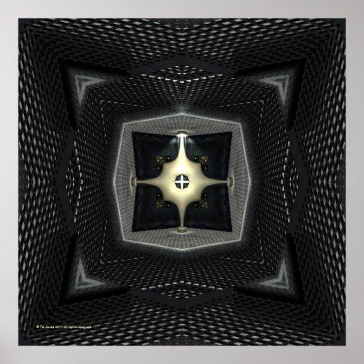 Reaktor-Sciencefiction-gotisches Kaleidoskop Plakate