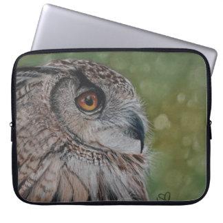 Realistische Eulenmalerei auf Laptophülse Laptop Sleeve