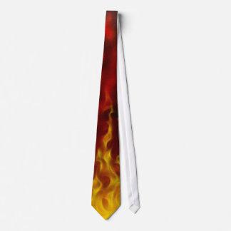Realistische Flammen-Krawatte Personalisierte Krawatten