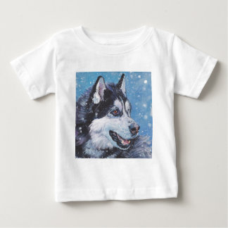 realistische Husky-HundeKunst-Malerei Baby T-shirt