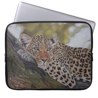 Realistische Leopardkatzen-Laptophülse Laptopschutzhülle