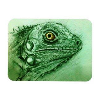 Realistischer grüner Reptilkunst Foto-Magnet - Magnet