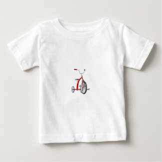 Realistisches rotes Dreirad Baby T-shirt