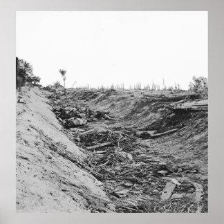 Rebell tot im Graben nach Kampf von Antietam Poster
