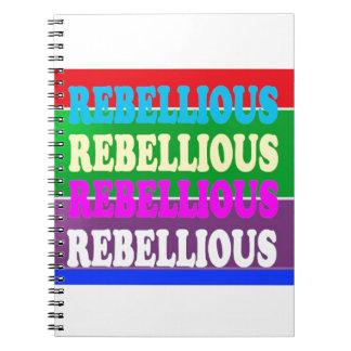 Rebellenaufstands-REBELLISCHER Ausdruck BILLIGgif Spiral Notizblock