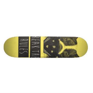 Rebellenhund (Gelb) Skateboard Deck
