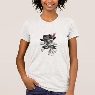 Rebellischer Stammes- gotischer Schädel - Kreuz T-Shirt