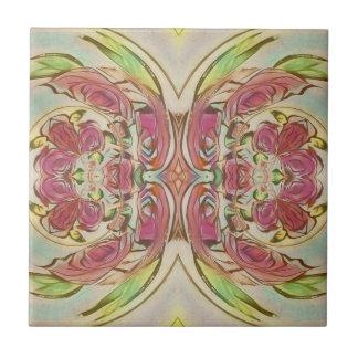 Reben und rosa Rosenfliese Keramikfliese