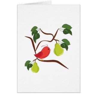 Rebhuhn im Birnen-Baum Karte