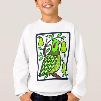 Rebhuhn im Birnen-Baum Sweatshirt