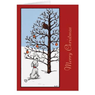Rebhuhn in einem Birnen-Baum Karte
