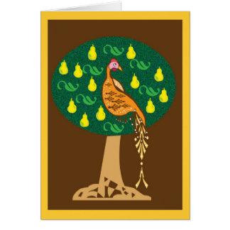Rebhuhn in einem Birnenbaum Karte