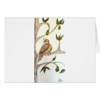 Rebhuhn in einem grünen Birnen-Baum Karte