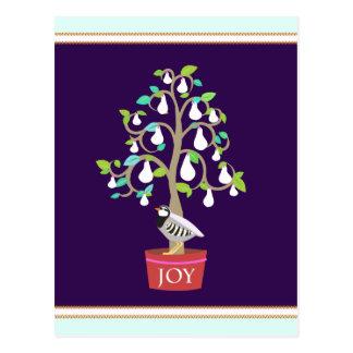 Rebhuhn in einer Birnen-Baum-Postkarte Postkarte