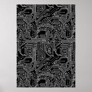 Rechnerschaltung-Brett-Plakat Poster