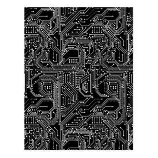 Rechnerschaltung-Brett-Postkarte Postkarte