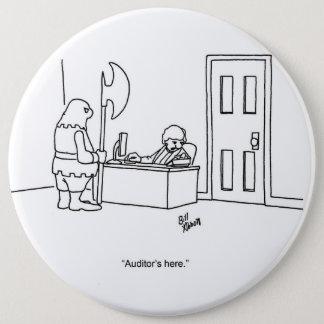 Rechnungsprüfungs-Zeit-Spaß-Knopf Runder Button 15,3 Cm