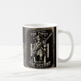 Recht, Änderungsgewehr der Arme zweite berichtigt Kaffeetasse