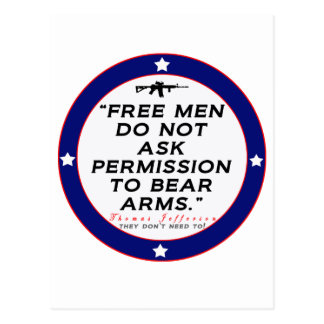 Recht, Arme zu tragen Postkarte