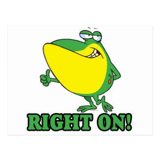 recht auf Daumen up Froggy Postkarte