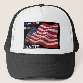 Recht, Hut zu wählen Truckerkappe
