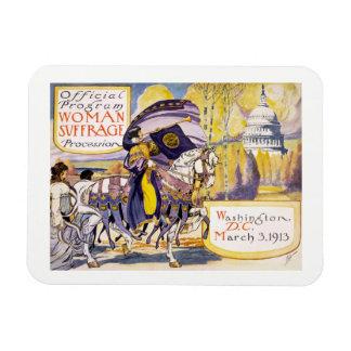 Recht-März Washington DC 1913 Frauen Magnet