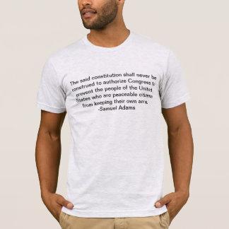 Recht zu eigenen Armen - Sam Adams T-Shirt