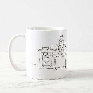Rechte Cartoon-Tasse der starken Wohltätigkeit Kaffeetasse