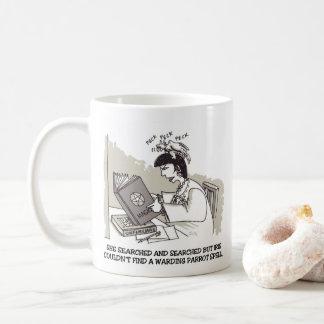 Rechte Cartoon-Tasse des Papageien-Bannes Kaffeetasse