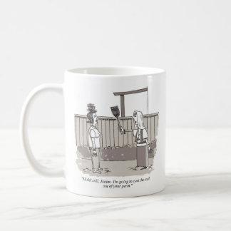 Rechte Cartoon-Tasse des schlechten Perm Kaffeetasse