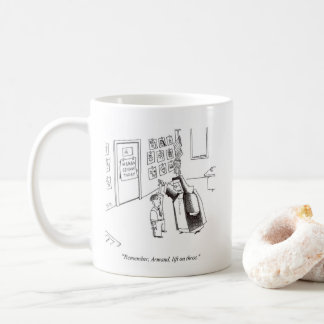 Rechte Cartoon-Tasse des schweren Nonnen-Tanzens Kaffeetasse