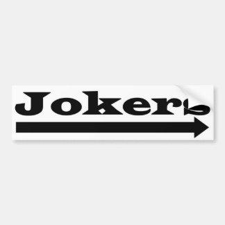Rechte Joker Autoaufkleber