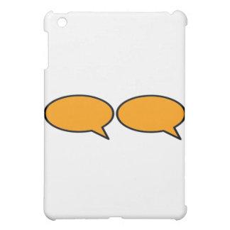 Rechte Orange der Wort-Blasen-2 die MUSEUM Zazzle  Hüllen Für iPad Mini