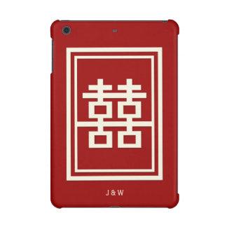 Rechteck-doppeltes Glück-rote chinesische Hochzeit