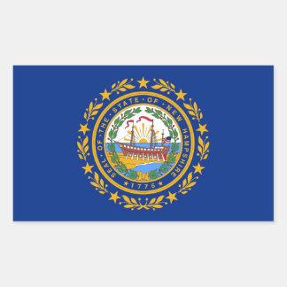 Rechteckaufkleber mit Flagge des New Hampshire Rechteckiger Aufkleber
